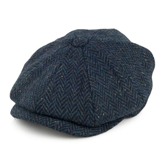 Blue-harris-tweed-cap
